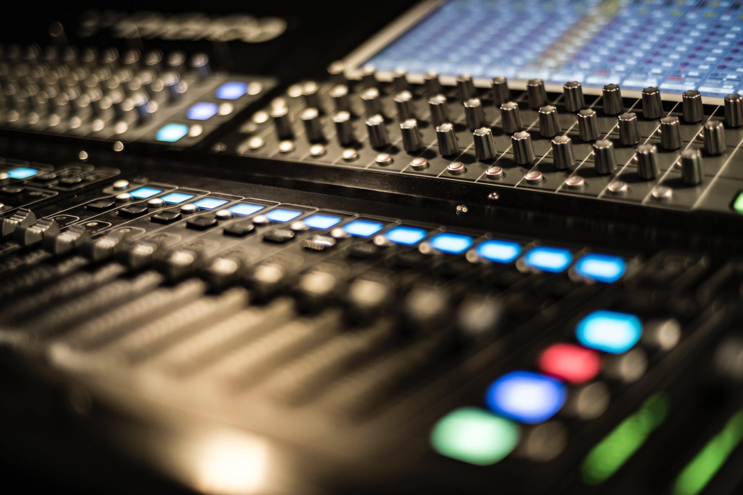 console de mixage son